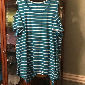 Lane Bryant Tops - Lane Bryant cold shoulder t-shirt in 22/24
